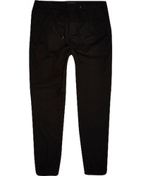 River Island Black Ankle Cuff Joggers