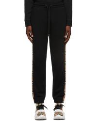 Burberry Black Checkford Lounge Pants