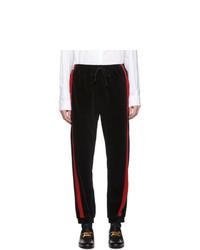 Gucci Black Chenille Lounge Pants