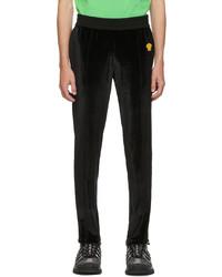 Versace Black Chenille Medusa Lounge Pants