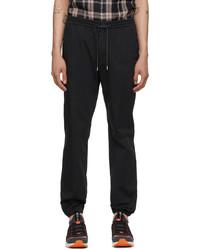 Z Zegna Black Cotton Jogger Lounge Pants