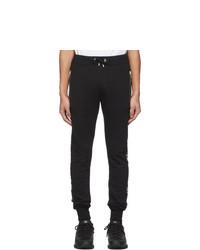 Balmain Black Cotton Logo Lounge Pants