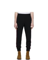 Alexander McQueen Black Crepe Lounge Pants