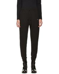 Black embroidered logo lounge pants medium 785814