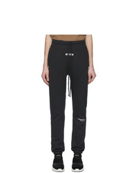 Essentials Black Fleece Lounge Pants