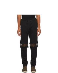 Fendi Black Forever Zip Knee Lounge Pants