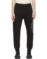 Alexander McQueen Black Graffiti Lounge Pants