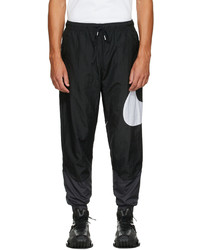 Nike Black Grey Swoosh Sportswear Lounge Pants