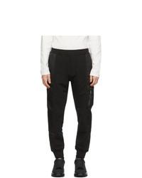 Alexander McQueen Black Hybrid Jogger Lounge Pants