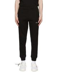 Off-White Black Logo Cuffed Lounge Pants