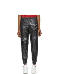 Cottweiler Black Monogram Track Pants