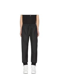 424 Black Pinstripe Trousers