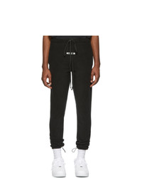 Essentials Black Polar Fleece Lounge Pants