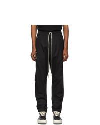 Rick Owens Black Poplin Track Pants
