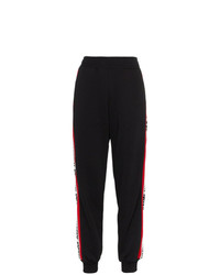 MSGM Black Side Logo Track Pants
