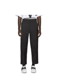 Valentino Black Tech Cargo Pants