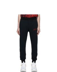 Alexander McQueen Black Vintage Loopback Lounge Pants