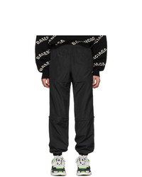 Balenciaga Black Zipped Track Lounge Pants