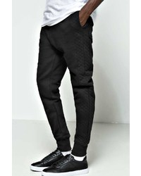 Boohoo Side Panel Quilted Joggers