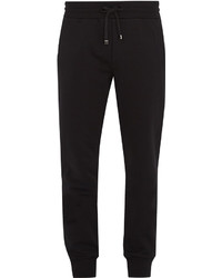 Dolce & Gabbana Crest Embroidered Cotton Track Pants