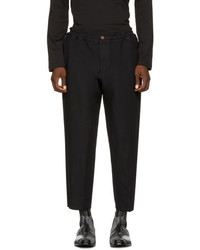 Comme des Garcons Homme Plus Black Elastic Waist Trousers