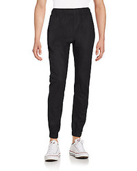 Saks Fifth Avenue BLACK Linen Cotton Jogger Pants