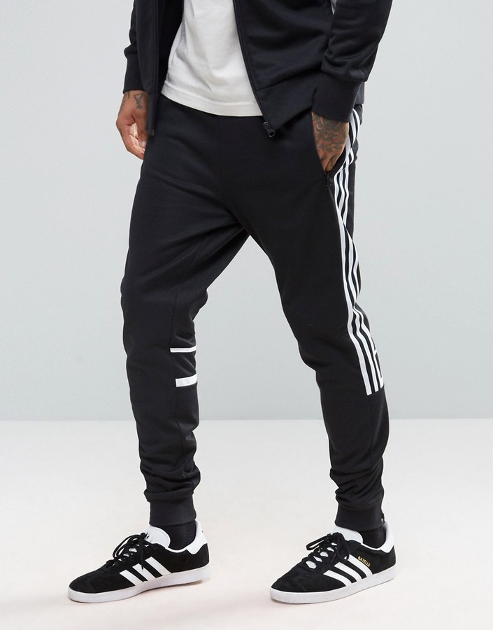 ... adidas Originals Clr84 Slim Joggers In Black Bk5929 ... c62d689616b