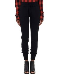 Rag and Bone Rag Bone Faux Leather Piping Jogger Pants