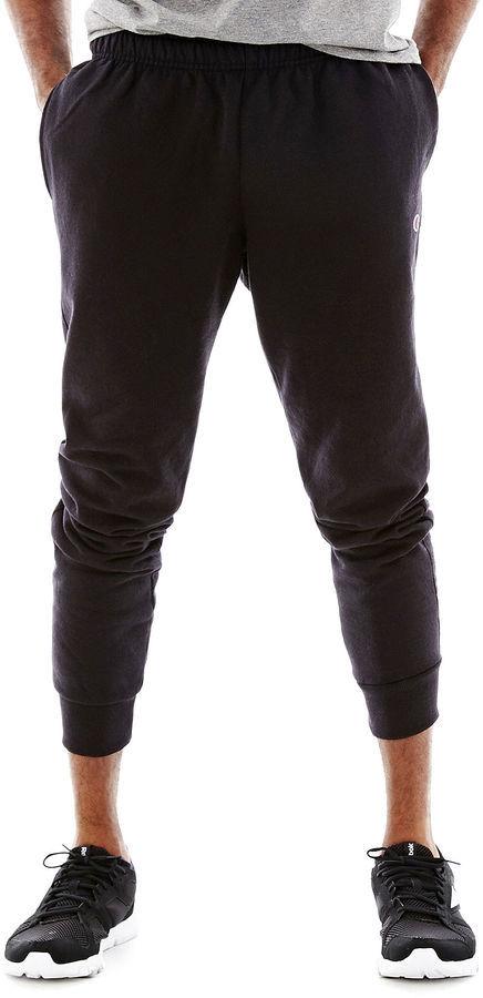 Retro Fleece Jogger Pants. Black Sweatpants by Champion 5b2ab4a92