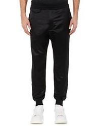 Alexander McQueen Satin Front Jogger Pants Black