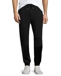 Ovadia & Sons Satin Patch Track Pants Black