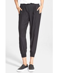 Silk jogger pants medium 267777
