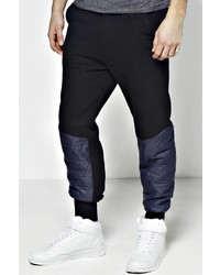 Boohoo Skinny Fit Luxe Quilted Panel Jogger