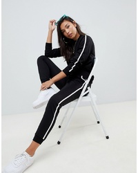 ASOS DESIGN Tracksuit Cute Sweat Basic Jogger With Tie With Contrast Binding