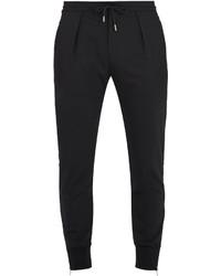 Paul Smith Zip Cuff Slim Leg Wool Blend Trousers