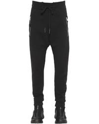 11 By Boris Bidjan Saberi Zip Stretch Cotton Jersey Sweatpants