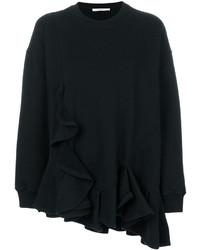 Givenchy Asymmetric Ruffle Trim Sweatshirt