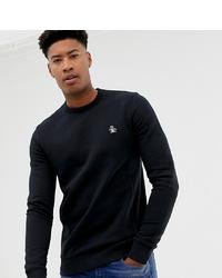 Original Penguin Big Tall Icon Logo Sweatshirt In Black