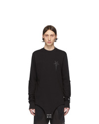 Rick Owens Black Champion Edition Long Sleeve T Shirt
