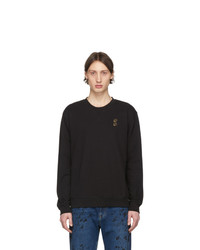 McQ Alexander McQueen Black Embroidered Swallow Sweatshirt