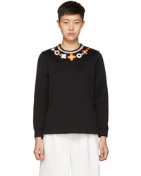 Fendi Black Flowerland Sweatshirt