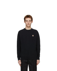 MAISON KITSUNÉ Black Fox Head Adjusted Sweatshirt