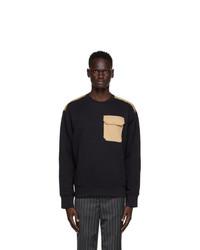 Neil Barrett Black French Terry Sweatshirt