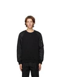 Alexander McQueen Black Hybrid Sweatshirt