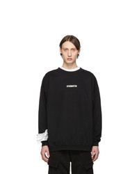 Vetements Black Inverted Logo Sweatshirt
