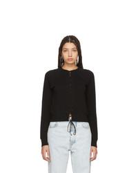 Unravel Black Lace Up Sweatshirt