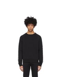 Balmain Black Logo Sleeve Sweatshirt