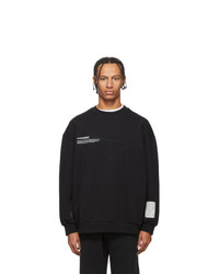 A-Cold-Wall* Black Mission Statet Classic Flat Sweatshirt