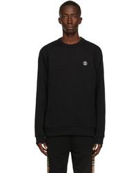 Burberry Black Monogram Motif Appliqu Sweatshirt