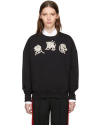 Alexander McQueen Black Mythical Logo Sweatshirt